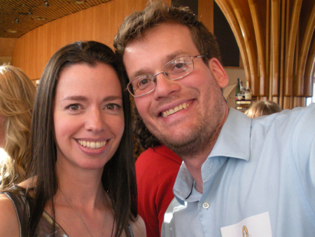 Susane Colasanti and John Green at Penguin's BEA party