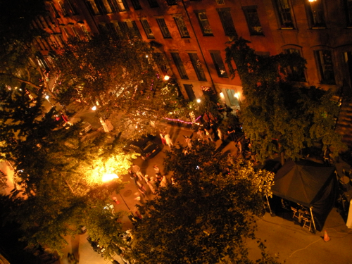 Blue Bloods filming a Halloween scene in New York City