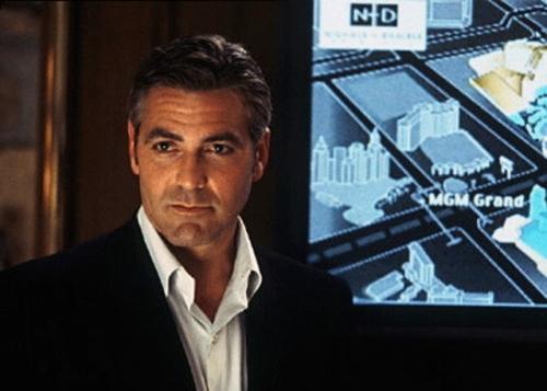 George Clooney in Ocean's 11