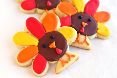 Thanksgiving sugar cookies