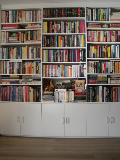 Bookshelves after