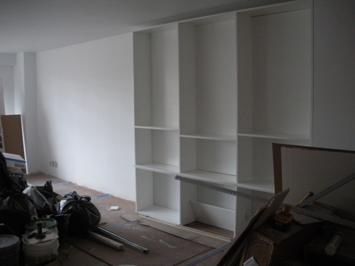 Bookshelves construction