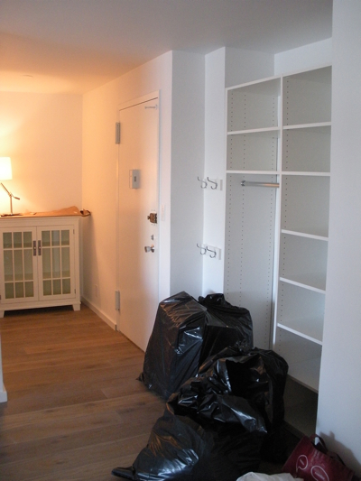 Front closet and grand foyer