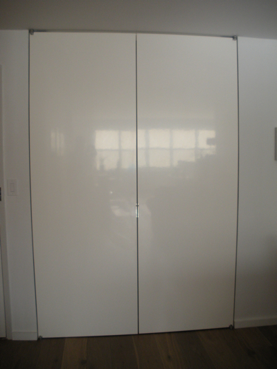 Front closet doors after