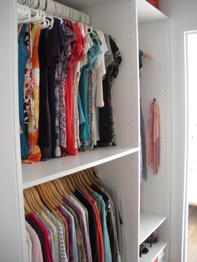 Walk-in closet after