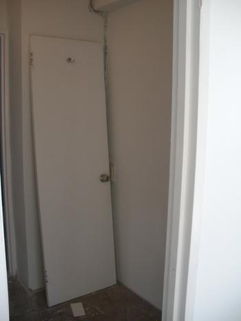 Walk-in closet demolition