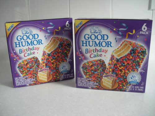 Birthday Cake Good Humor bars