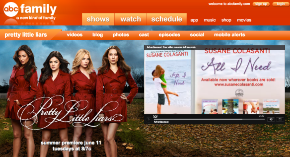 All I Need by Susane Colasanti ad on Pretty Little Liars page
