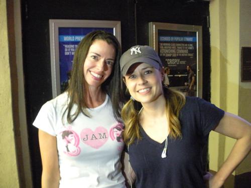 Susane Colasanti and Jenna Fischer