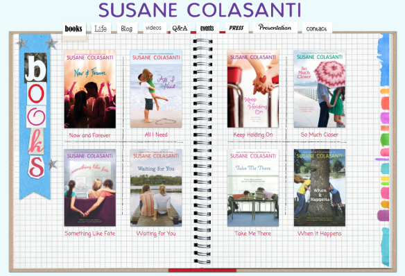 Susane Colasanti - Official Website books page