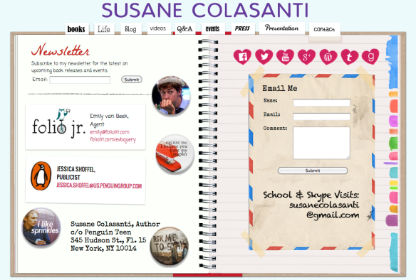 Susane Colasanti - Official Website contact page