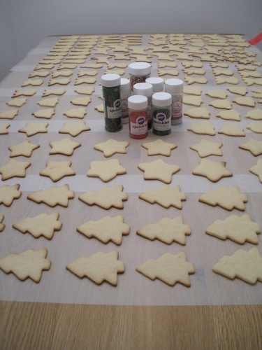 Christmas cookies before