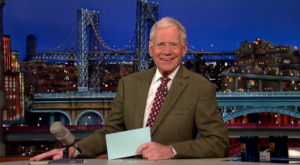 David Letterman announcing his retirement, April 3, 2014