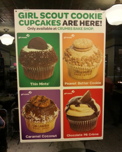 Crumbs Girl Scout Cookie Cupcakes