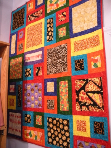 The City Quilter epic food quilt