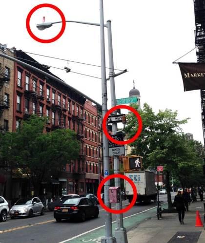 New York City street light