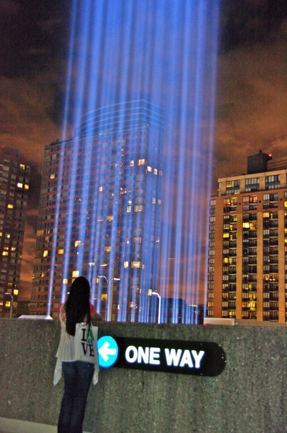 Susane Colasanti at the Tribute in Light, 9.11.10