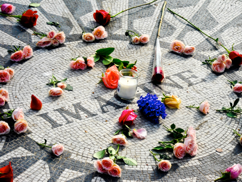 Imagine mural, Strawberry Fields