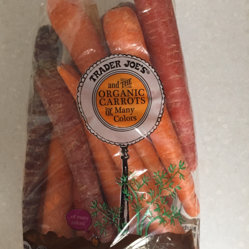 Trader Joe's carrots of many colors