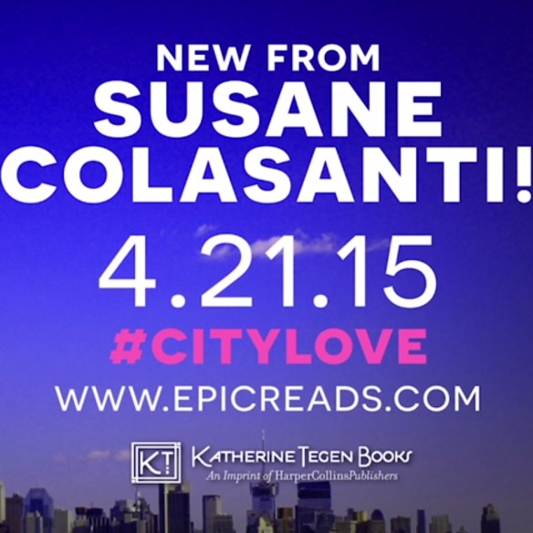 City Love by Susane Colasanti, April 21, 2015