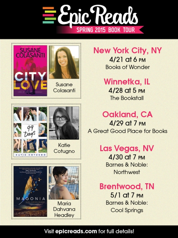 Epic Reads Spring Tour 2015
