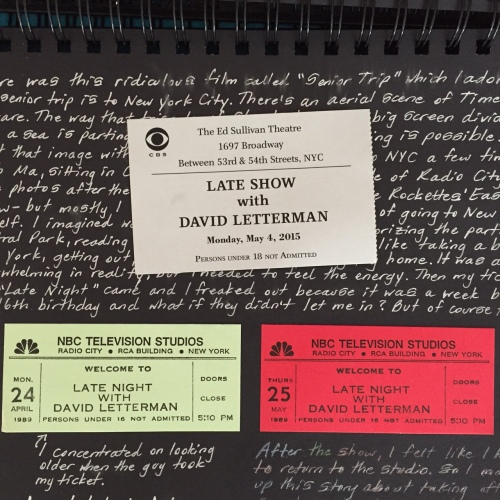 Late Night and Late Show with David Letterman tickets