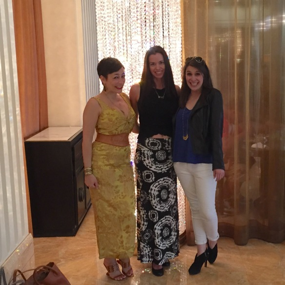Maria Dahvana Headley, Susane Colasanti, and Katie Cotugno at Trump International in Las Vegas