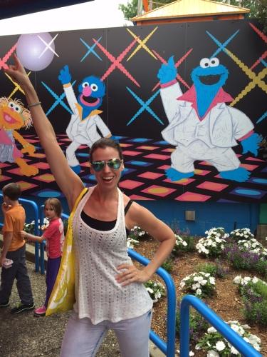 Susane Colasanti with Disco Cookie