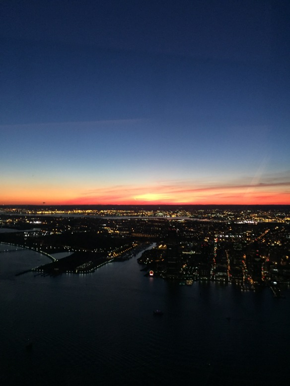 One World Observatory sunset, October 10, 2015