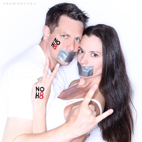 Matt Huntington and Susane Colasanti, NOH8 2016
