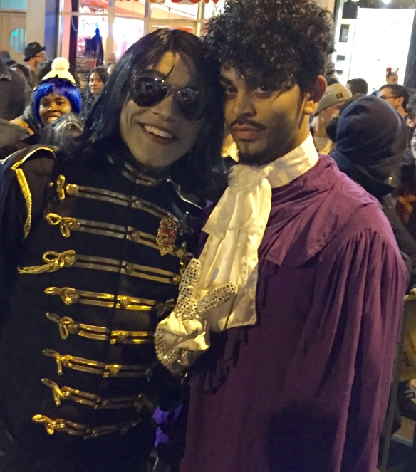 Michael Jackson and Prince in the NYC Halloween Parade 2016