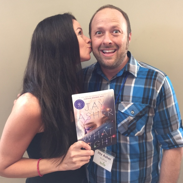 Susane Colasanti and Jay Asher with What Light