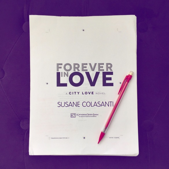 Forever in Love by Susane Colasanti, first pass