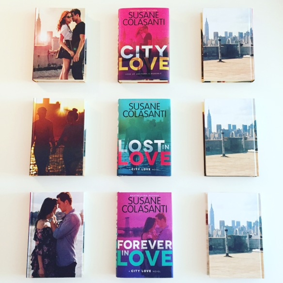 City Love trilogy by Susane Colasanti hardcover editions