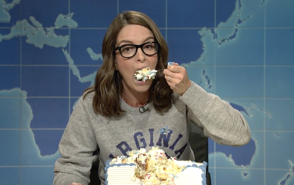 Tina Fey sheetcaking